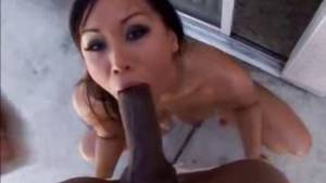 asian booty black dick - Asian Girl With Big Round Ass Loves Big Black Cock