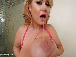 jiggling tits anal - The Queen Of Bbws Samantha 38g Jiggles Tits In Pink
