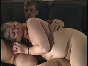 cum mature bbw - Mature Bbw Wife Heather Sucking A Cock Naked On The Couch