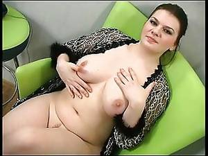 chubby pov sex - Sexy chubby brunette shows her body