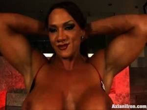 amber deluca anal - Aziani Iron Amber Deluca Bodybuilder Rides The Sybian