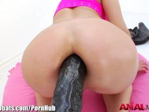 extreme massive anal dildo - AnalAcrobats Blonde Massive Anal Dildo Play