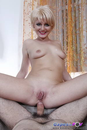 Blonde Mature Short Hair - Short haired blonde in black high heel shoes gets ass fucked from your  perspective