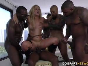 giant blacks cocks group - Cherie DeVille gets gangbanged by big black cocks