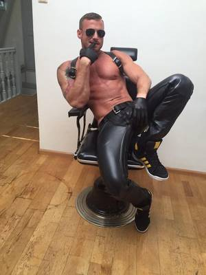 Leather Muscle Porn - Mister B Amsterdam on Twitter: \