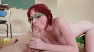 busty redhead anal roxette - ... College babe is getting a good lesson