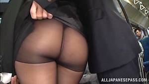 Big Tit Nylon Porn - A Japanese office chick with big boobs gets banged in a bus