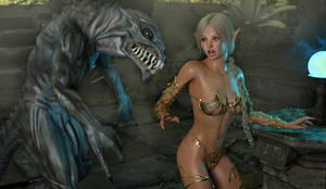 3d Space Alien Sex - ... picture #2 ::: Space alien lands in Elven kingdom and brutally fucks a  ...