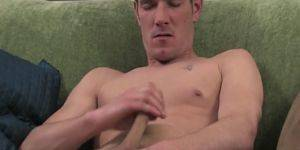 guy gives guy handjob - Hot guy gives himself a handjob