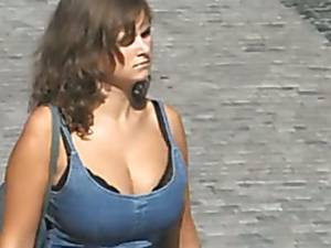 girl on huge tits nude beach - Hidden cam films unsuspecting chicks with big tits