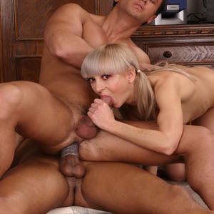 Girlfriend Porn Two Guys - Bisexual Porn Featuring Male On Male Anal