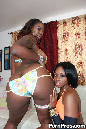 huge oiled ebony boobs - Ebony hotties Baby and Kelly show their oiled asses and pierced pussy ...