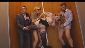 beautiful secretary fucking - ... Beautiful secretary got gangbanged in an elevator