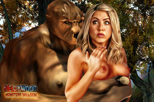 3d Celebrity Monster Porn Animated - 3d celebrity monster porn - Chained busty blonde gets slammed various  fantasy beings jpg 900x600
