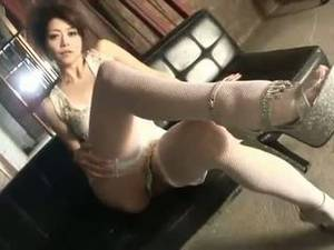asian japanese stockings - Lovely maki hojo white lace and stockings solo