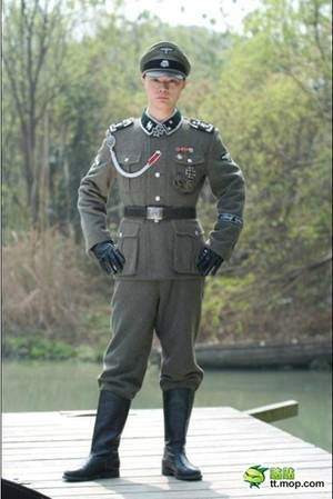 Nazi Uniform Porn - He traded in his woolen uniform for a black Leather uniform like that worn  by the Commandant.