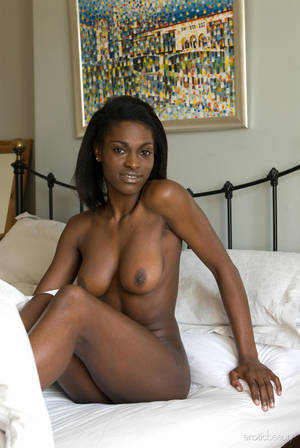 Beautiful Ebony Babes - Beautiful ebony babe Aubrey A is more than comfortable lounging naked ...