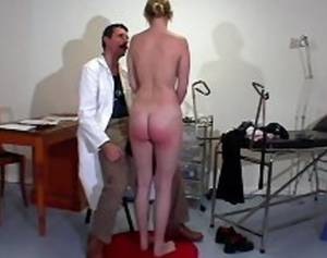 homemade black booty spanking - Shameful bare ass spanking for a big busted girl at the doctor's