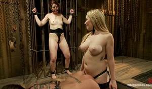 Lesbian Handcuffs Porn - Two Hot Babes Play In Their Dungeon And Cum