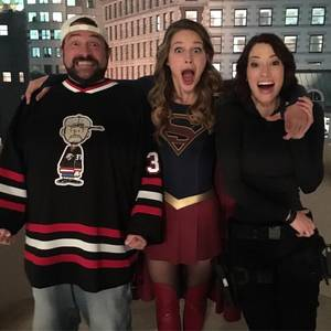 Chyler Leigh Supergirl Porn - thatkevinsmith: This is what your face always looks like while working on I  spent yesterday shooting with & as my favorite siblings on TV, ...
