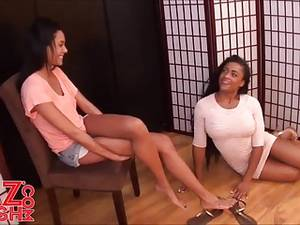 lesbian porn store - Foot Fetish And Foot Worship In The Shoe Store · Lesbians ...