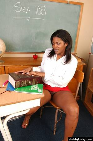 big black bitch naked - ... Black BBW Annabelle showing off her big black butt in the classroom ...