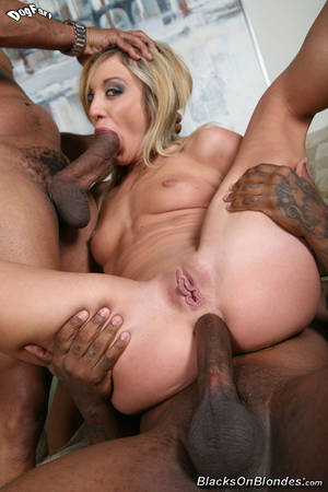 Black Cock Anal Blonde - blacks on blondes anal