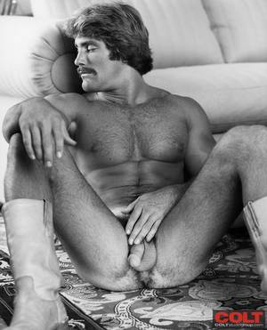60s Gay Porn - Byron Hawkwood in a gay porn photo spread for COLT Studio Group.