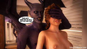 Evil Mind Control Porn Captions - ... Succubus Slut 3D video porn comics about hot cute girl fucked by evil  in shower ...