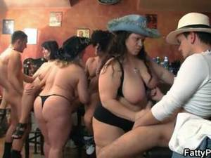 group latina nude - Group Bbw Orgy In The Pub
