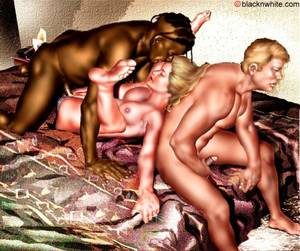 free interracial cuckold cartoons - Hot pink and blonde hair
