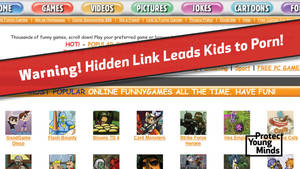 Hidden Cartoon Porn - Warning Hidden Link Leads Kids to Porn