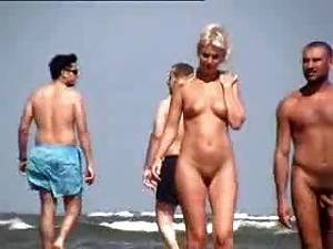 bald nudist party - Nudist Couple At Beach