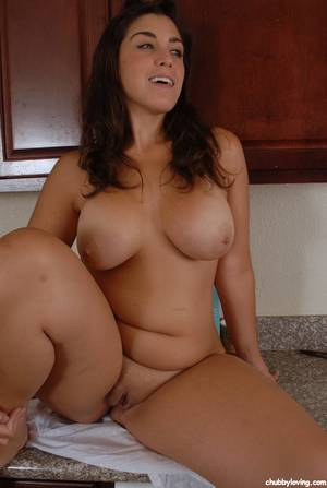 huge bbw solo - ... Latina BBW Leigh striking sexy topless solo girl poses in pink  underwear ...