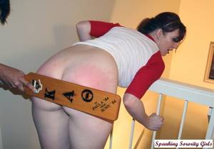 latina spanked - ... spanked with the Frat paddle