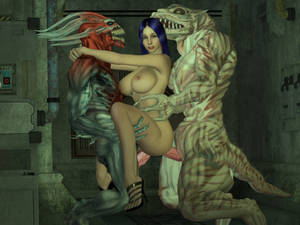 3d Space Alien Sex - ... picture 6 : A space exporer with heavy 3D tits woken up by an alien wang