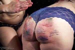 fresh spanked ass - Glitter spanking with Adele Haze and Pandora Blake at Dreams of Spanking