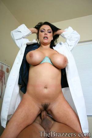 doctor fuck - ... Big titted babe Angelica Sin strips off doctor's uniform for fucking ...