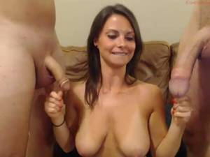 Big Dick Babe Porn - Babe on webcam loves big dick and calls for another for threesome -  DuckPorno.com