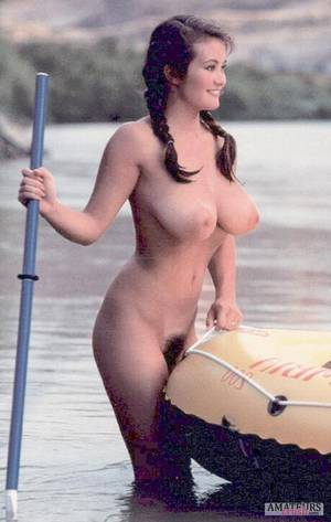 latina pointy tits - Oldskool vintage torpedos of busty curvy babe with her rubber boat