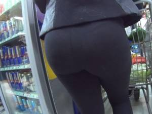 her phat ass in leggins - Hot ass in see thru leggings shop and street