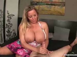 busty milf with big tits mom - Mom helps son jerk off - Mature Porn Tube - New Mom helps son jerk .