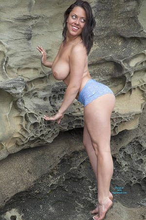 girl on huge tits nude beach - Teasing Nude At The Beach