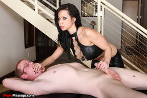 ball tied forced handjob - Kimmy lee dominates a male client ...