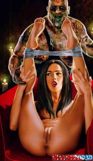 Fox Slave Porn - Megan Fox and walking dead monster hentai_cleaned