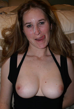 chubby face tits - Nude wives cum on tits