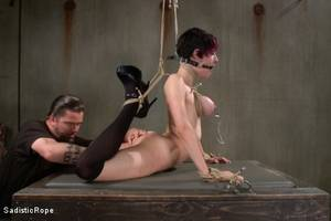 Extreme Hardcore Bdsm Porn - Photo number 6 from Closest to the Edge shot for Sadistic Rope on Kink.com