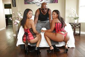 awesome extreme sex party - Big tits ebony ladies are taking part in a wild threesome sex party ...