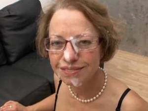 Blonde Mature Glasses - mature red shoes take assfuck fist anal pussy glasses troia