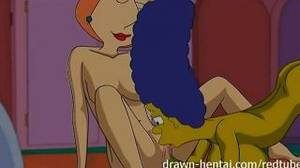marge fucking a lesbian - Lesbian Hentai Marge Simpson And Lois Griffin